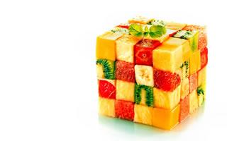Dessert : cube de fruits
